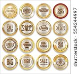 luxury retro badge and labels...   Shutterstock .eps vector #554244997