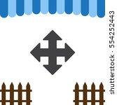 arrow icon vector flat design...