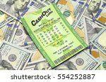 winning lottery ticket with...   Shutterstock . vector #554252887