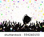 crowd and trophy | Shutterstock .eps vector #554260153