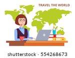 tourist agency. consultant... | Shutterstock .eps vector #554268673