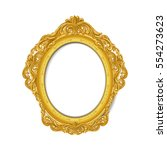 vintage gold picture frame | Shutterstock .eps vector #554273623