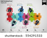 businessman brainstorming   per ... | Shutterstock .eps vector #554291533