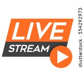live stream   tv broadcasting... | Shutterstock .eps vector #554292973