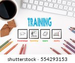 training  business concept.... | Shutterstock . vector #554293153