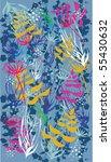 vintage floral pattern... | Shutterstock .eps vector #55430632
