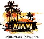 tropical background | Shutterstock .eps vector #55430776