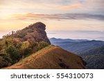 top of mountain in monjong ... | Shutterstock . vector #554310073