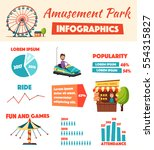 amusement park infographics.... | Shutterstock .eps vector #554315827