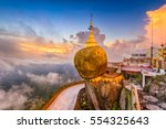 kyaiktiyo  myanmar at golden... | Shutterstock . vector #554325643