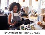 portrait of female employee... | Shutterstock . vector #554327683