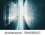 low angle view of skyscrapers | Shutterstock . vector #554330317