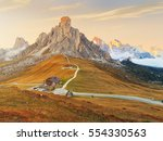 dolomites mountains the passo... | Shutterstock . vector #554330563