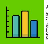 bar chart icon flat design