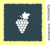 grape vector icon. wine sign.... | Shutterstock .eps vector #554359873
