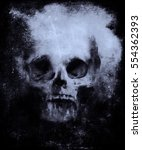wallpaper with bull skull  ... | Shutterstock . vector #554362393