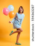 full length of cheerful young... | Shutterstock . vector #554363287