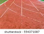 athletic running track | Shutterstock . vector #554371087