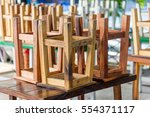 wooden chairs in chinese noodle ... | Shutterstock . vector #554371117