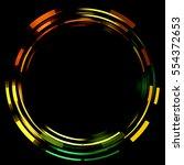 light ring isolated on black... | Shutterstock . vector #554372653
