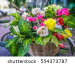 Closeup Artificial Flowers In...