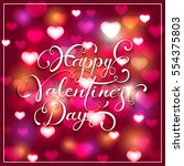 lettering happy valentines day...   Shutterstock .eps vector #554375803