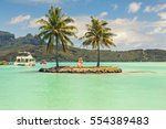 boat shuttle station on bora... | Shutterstock . vector #554389483