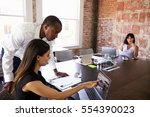 creative brainstorming meeting... | Shutterstock . vector #554390023