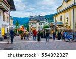 zell am see  austria  july 28 ... | Shutterstock . vector #554392327