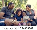 exercise activity family...   Shutterstock . vector #554393947