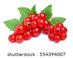 Red Currant Close Up Isolated...