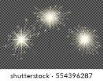 closeup isolated sparkler shine ...   Shutterstock .eps vector #554396287