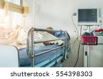 close up bed of  hospital ward... | Shutterstock . vector #554398303