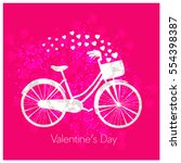 valentine's day background with ... | Shutterstock .eps vector #554398387