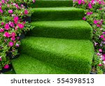 staircase green artificial... | Shutterstock . vector #554398513
