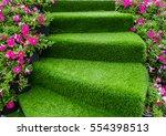 staircase green artificial...   Shutterstock . vector #554398513