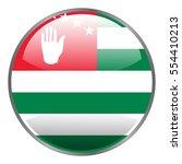 abkhazia flag. round glossy... | Shutterstock .eps vector #554410213