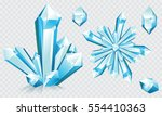 Collection Of Blue Ice Crystal...