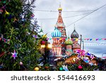st. basil's cathedral on the... | Shutterstock . vector #554416693