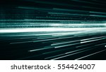 futuristic speed line and dot... | Shutterstock . vector #554424007