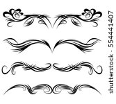 decorative monograms and... | Shutterstock .eps vector #554441407