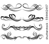 decorative monograms and... | Shutterstock .eps vector #554442457