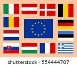 vector european union flag set | Shutterstock .eps vector #554444707