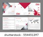 multi purpose  three fold... | Shutterstock .eps vector #554451397