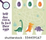 help dino moms to find their... | Shutterstock .eps vector #554459167