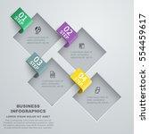 squares cut data. vector... | Shutterstock .eps vector #554459617