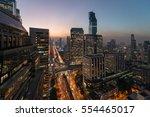 aerial view of bangkok modern... | Shutterstock . vector #554465017