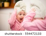 little child having fun in... | Shutterstock . vector #554472133