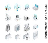 laboratory icons set with... | Shutterstock .eps vector #554476633