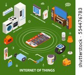 internet of things iot... | Shutterstock .eps vector #554476783